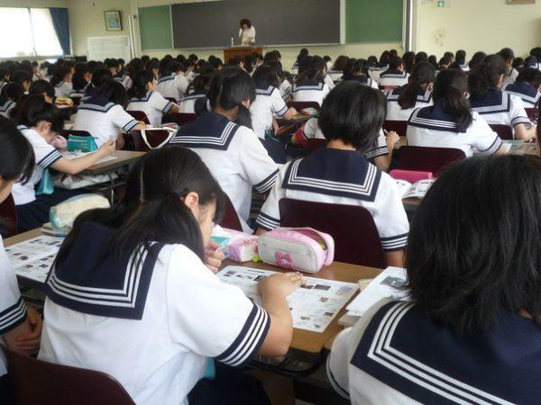 Экзамен в японской школе