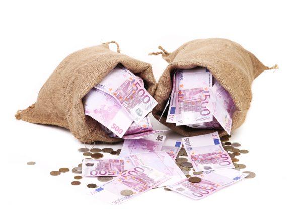 Евро в мешочках
