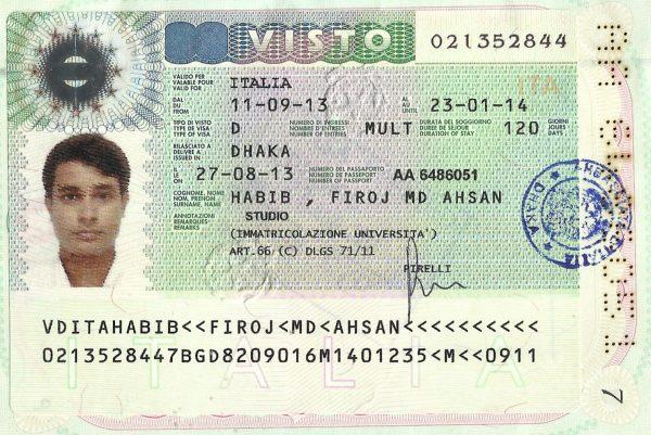 Итальянская студенческая виза