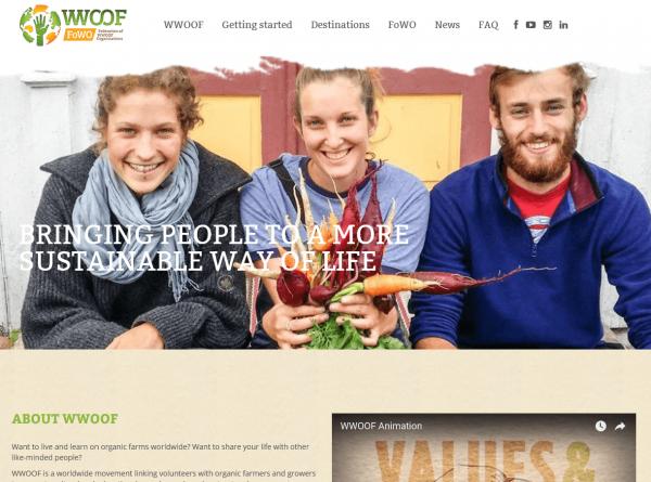 Скриншот сайта World Wide Opportunities on Organic Farms