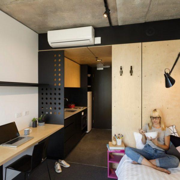 Комната в австралийском студенческом общежитии