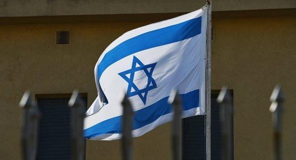 Флаг на посольстве Израиля