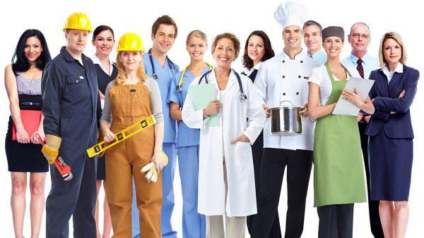 Представители различных профессий