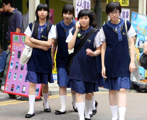 Ученицы средней школы в Китае(старшие)