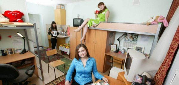 Студенты в общежитии