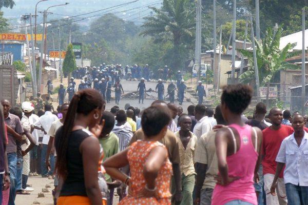 Стычки с полицией в Бурунди