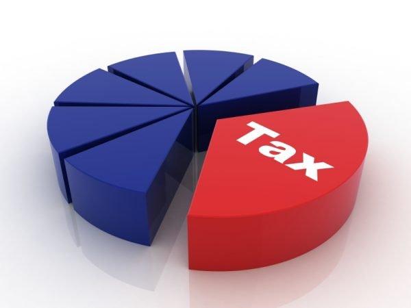 Диаграмма с долей налога