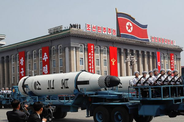 Баллистические ракеты на параде в Пхеньяне