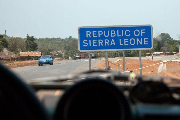 Знак о въезде в Сьерра-Леоне
