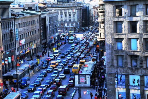 Автомобильные пробки в Питере