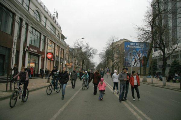 Улица Красная в выходной