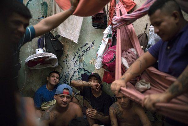 Заключённые в бразильской тюрьме