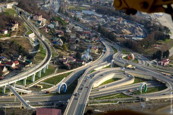 Дорожная развязка в Сочи