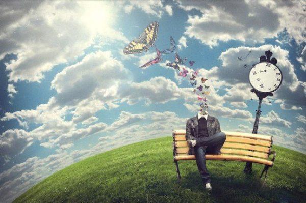 Фантазийное изображение счастливого человека