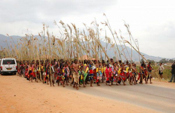 Девушки на национальном празднике в Свазиленде
