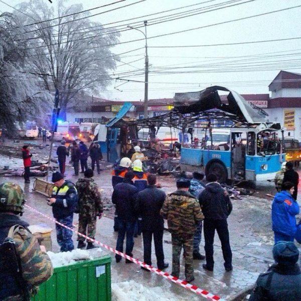Место теракта в Волгограде