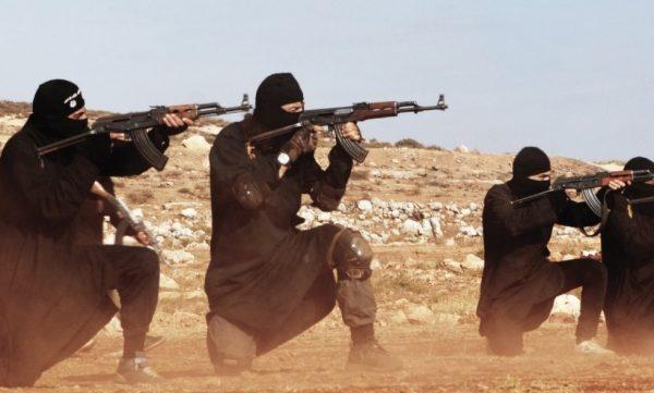 Террористы на огневой позиции