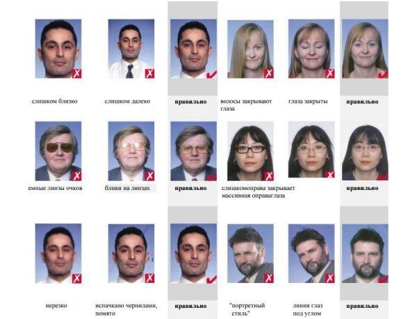 Фотографии на визу