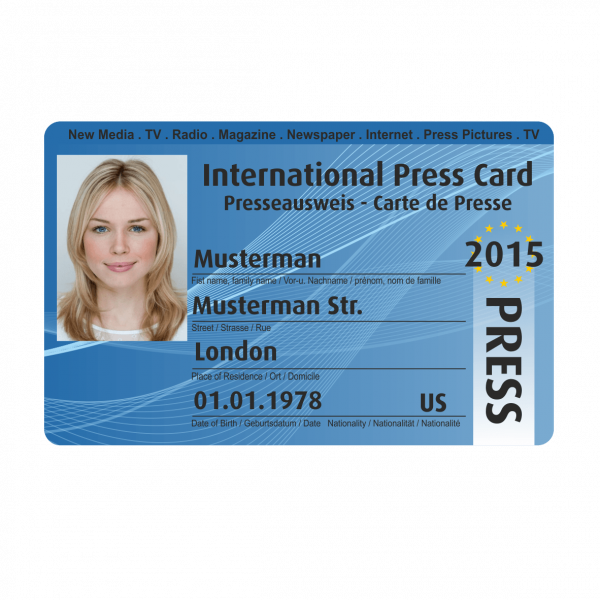 Международная карточка журналиста