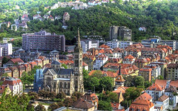 Пейзаж города Штутгарт в Германии