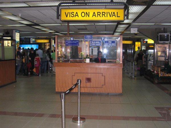 Стойка Visa On Arrival в аэропорту