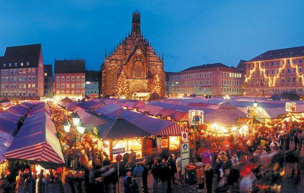 Ярмарка в Германии зимой