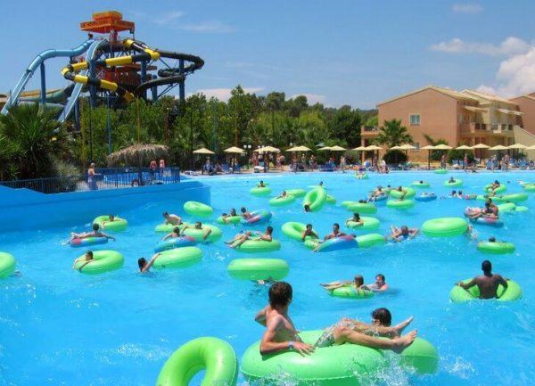 Аквапарк Aqualand на острове Корфу