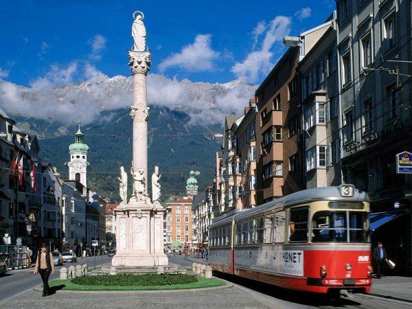 Улица одного из городов Австрии