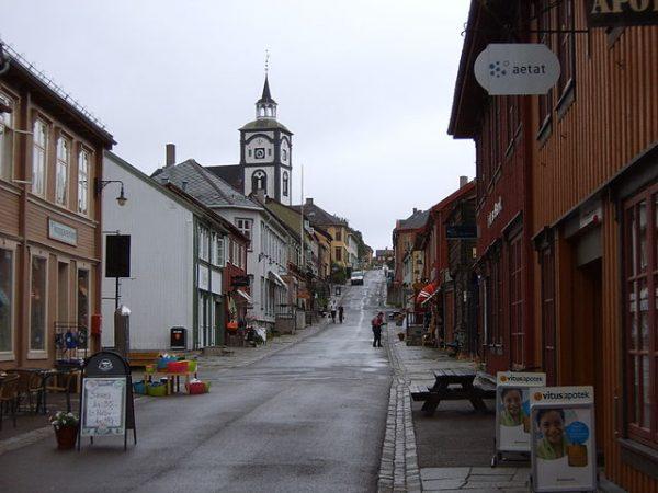 Центр города Рёрус в Норвегии