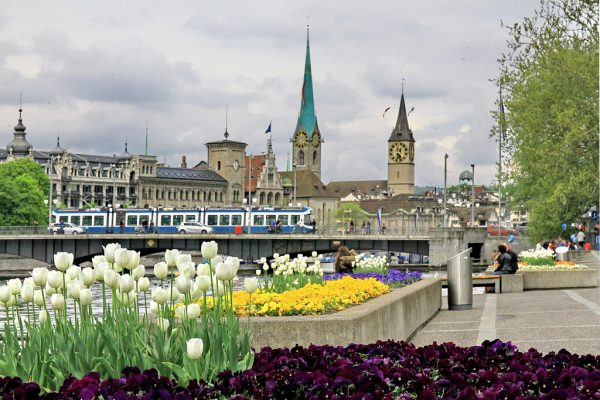 Современный пейзаж в Цюрихе
