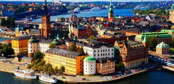 Побережье около одного из городов Финляндии