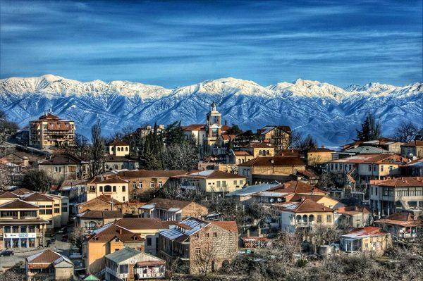 Город Телави в Грузии
