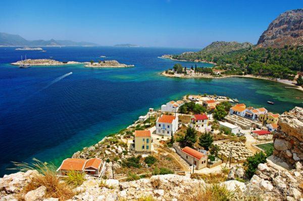 Пейзаж на побережье Греции