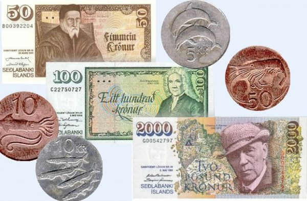 Исландские банкноты и монеты