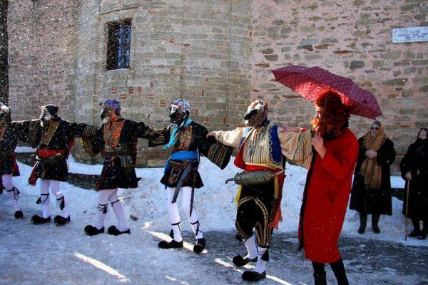 Карнавал в Греции зимой
