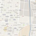 Карта центра Чхонана в Южной Корее