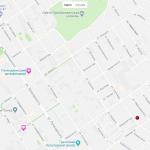 Карта центра Геленджика с достопримечательностями