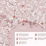 Карта центра города Лугано