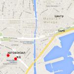 Карта центра города Малага