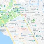 Карта центра Манилы с основными достопримечательностями