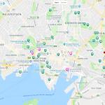 Карта центра Осло с достопримечательностями