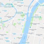 Карта центра Пхеньяна