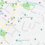 Карта центра Симферополя