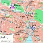 Карта центральной части Цюриха
