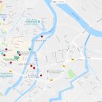 Карта центральной части Гданьска