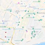 Карта части центра Москвы
