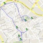 Карта части города Эвора