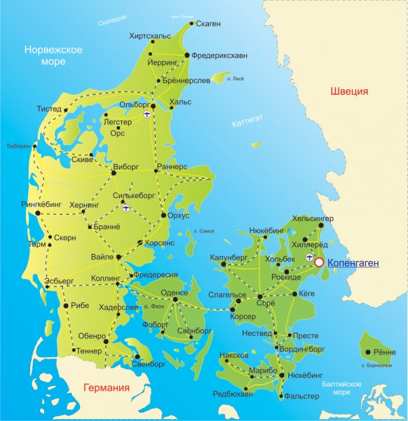 Достопримечательности Дании - главные и основные. Что посмотреть в Дании зимой и летом. Фото и описание