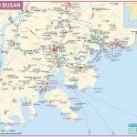 Карта города Пусан в Южной Корее