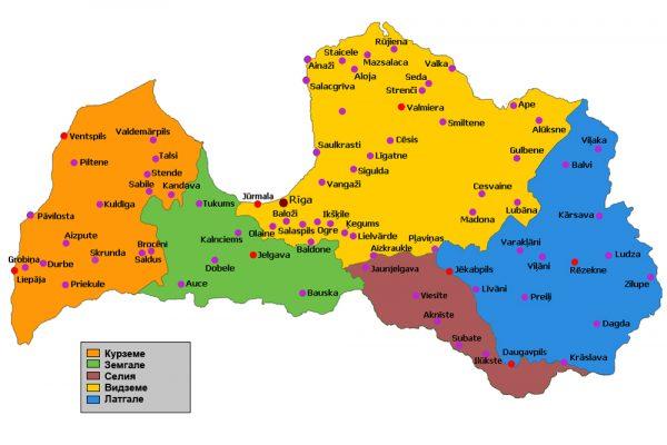 Регионы Латвии